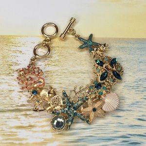 Sea Shell Beach Coral Bracelet